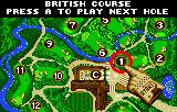 Awesome Golf Lynx You can select which hole to play via this map.