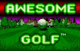 Awesome Golf Lynx Title screen