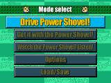 Power Shovel PlayStation Main menu in wonderful engrish!