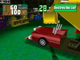 "Power Shovel PlayStation One of the mini games in Part Timer Mode: ""Destroy that public nuisance car""."