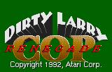 Dirty Larry: Renegade Cop Lynx Title screen