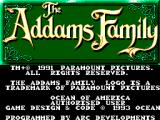 The Addams Family SEGA Master System Title screen