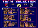 Walter Payton Football SEGA Master System Select your team
