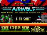 Airwolf ZX Spectrum Title screen
