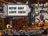 Donkey Kong Country 3: Dixie Kong's Double Trouble! SNES Renting a motor boat