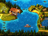 Donkey Kong Country 3: Dixie Kong's Double Trouble! SNES On a motor boat