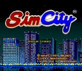SimCity SNES Title screen