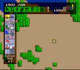 SimCity SNES A new game starts with an unspoiled natural area. Humans won't leave it like that for long.