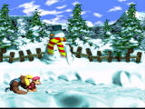 Donkey Kong Country 3: Dixie Kong's Double Trouble! SNES A snowy level