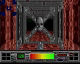Testament Amiga The door to the second level, with a decorative skull