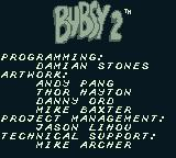 Bubsy II Game Boy Ah, the good old days of not many people in the credits