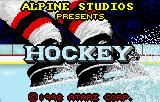 Hockey Lynx Title screen