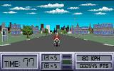 OutRun Europa Amiga Driving motorcycle, Level 1