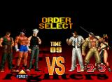 The King of Fighters '97 Neo Geo CD Setting the battle order.