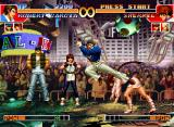 The King of Fighters '97 Neo Geo CD Using the Emergency Evade command, Shermie gets to avoid Robert Garcia's move Hien Ryuujin Kyaku...