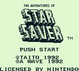 The Adventures of Star Saver Game Boy Title screen