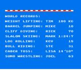 World Games NES World records
