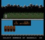 World Games NES Jumping on barrels: choose the amount of barrels