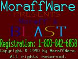Moraff's Blast I DOS Title screen