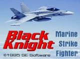 Black Knight: Marine Strike Fighter  DOS Title screen