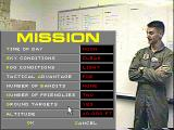 Black Knight: Marine Strike Fighter  DOS Mission creation menu