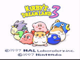 Kirby's Dream Land 3 SNES Title