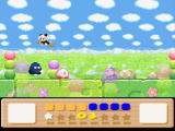 Kirby's Dream Land 3 SNES Nice clouds, and nasty things flying around