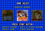Classic Collection Genesis Game selection screen.