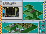 Metal Marines Windows 3.x Attacking the enemy base.