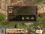 "FireFly Studios' Stronghold Crusader Windows In the ""Allies screen"" you can trade with your allies and give them orders."