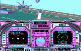 Blue Angels: Formation Flight Simulation DOS performing a stunt (CGA)