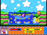 Kirby Super Star SNES Kirby is swimming with the mask on