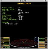 Elite: The New Kind Atari ST Your commander's statistics
