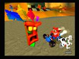 CTR: Crash Team Racing PlayStation A tribal head explains the rules.