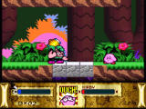 Kirby Super Star SNES This boss will destroy the bridge himself, so just push him into the abyss