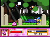 Kirby Super Star SNES This enemy will throw bombs at you, pay attention