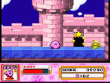 Kirby Super Star SNES On the castle wall, near an entrance