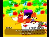 PaRappa the Rapper PlayStation Cheep Cheep is getting frustrated with your rapping.