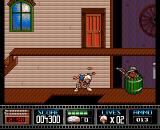 Premiere Amiga A gunman hiding in a barrel.