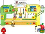 Richard Scarry's Busytown Windows Huckle Cat serves up the requested food via a mechanical hand.