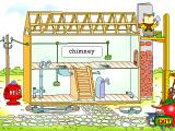 Richard Scarry's Busytown Windows Practicing bricklaying skills.