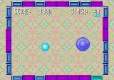 Menacer 6-Game Cartridge Genesis Whack Ball: you have to bounce the ball agains every block in the frame.