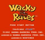 Wacky Races NES Title screen