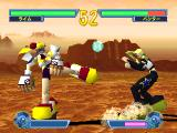 Saber Marionette J: Battle Sabers PlayStation Lime (left) is using Big feet and Big hands. Panther (right) is using Big feet and Spark punches.