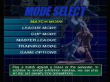 ISS Pro Evolution PlayStation Mode select.