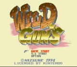 Wild Guns SNES Title Screen