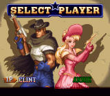 Wild Guns SNES Player Select