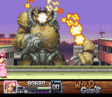 Wild Guns SNES The bigger they are, the harder they explode. The Carson City boss bites the dust
