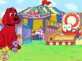 "Clifford the Big Red Dog: Phonics Windows ""Toss"" the ball to create words"