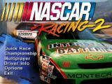NASCAR Racing 2 DOS Main menu